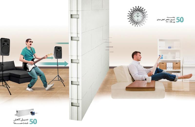 کاهش صدا - عایق صدا هبلکس پرین بتن